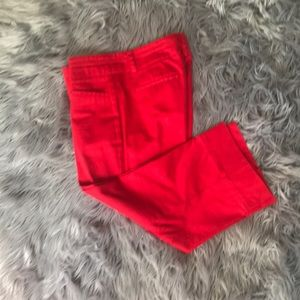 New York and Company red capris